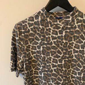 ZARA / Leopard Print / Short Sleeve / Turkeneck